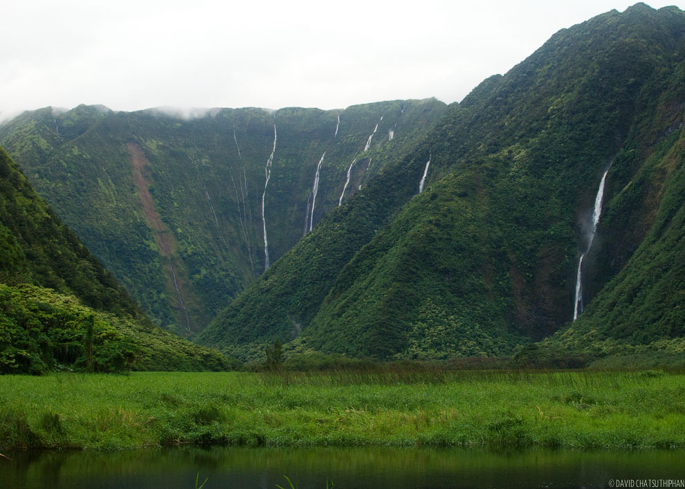 Waimanu Valley Falls